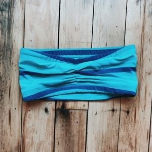 Lululemon Striped Bandeau Sports Bra